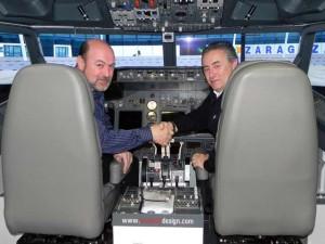 Saludo al finalizar el vuelo