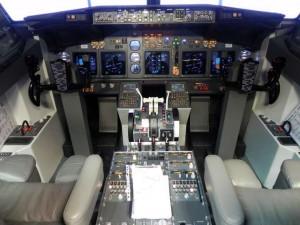 Vista completa del Cockpit del 737