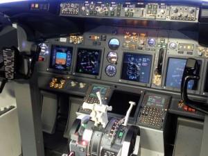 Vista del Cockpit del 737